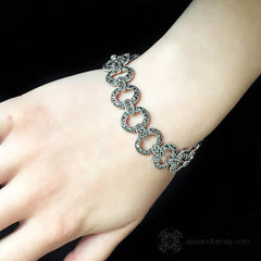 Luke Stockley Marcasite Oval Loop Link Bracelet (BR150)