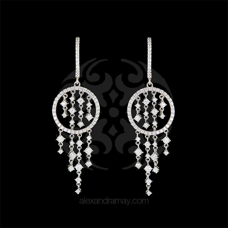 Lustre of London Silver Cascade Drop Earrings (EA14CVW)