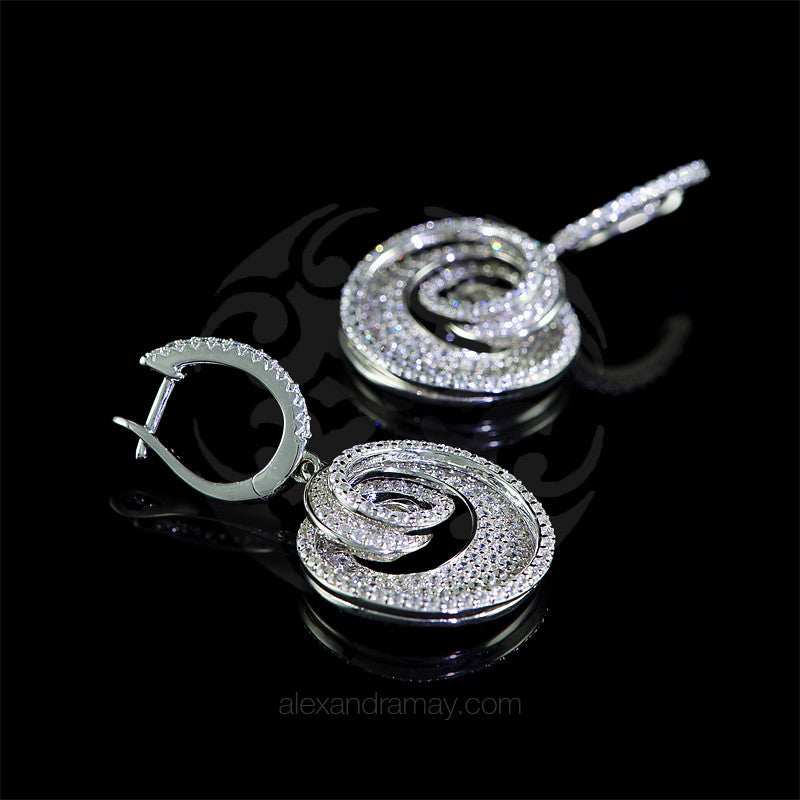 Lustre of London Silver Round Spiral Earrings (EA25CVW)