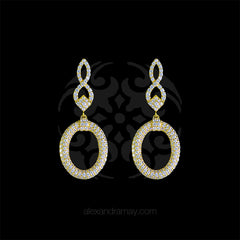 Lustre of London Yellow Gold Figure of 8 Oval Drop Earrings (EA02CVY)
