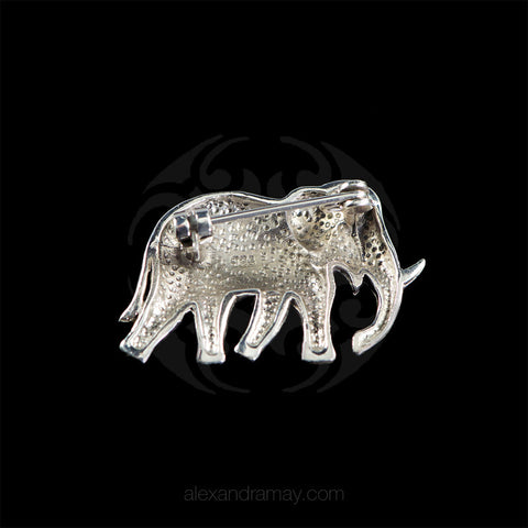 Luke Stockley Marcasite Elephant Brooch (AB148)
