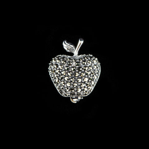 Luke Stockley Marcasite Small Apple Brooch (M3341)
