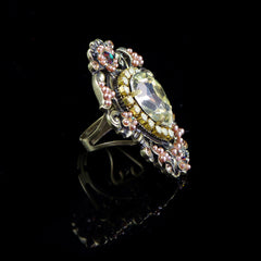 Michal Negrin Spectacular Lemon Crystal & Pearl Ring (157300/6)