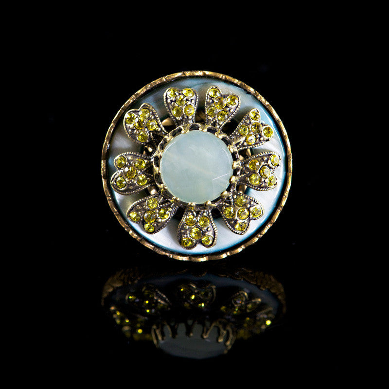 Ollipop Chalcedony Windflower Ring (R107)