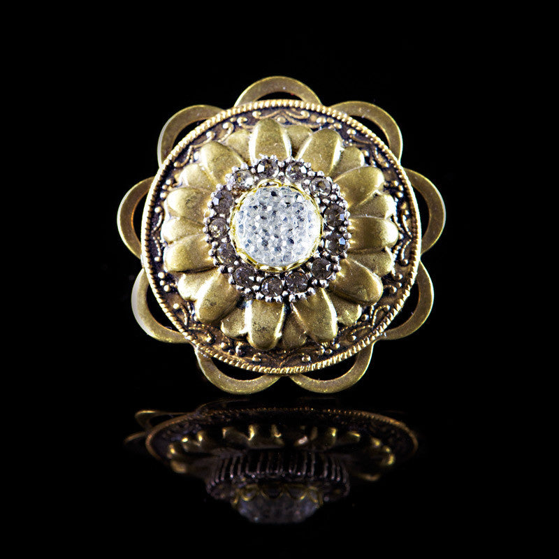 Ollipop Golden Flower Wheel  (R152)