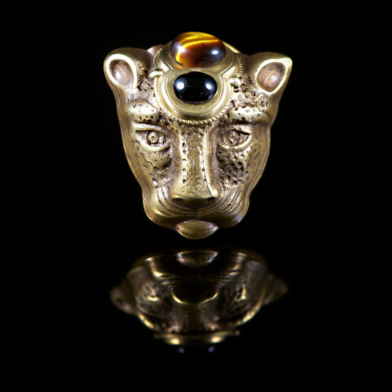 Patrice Tiger Eye Panther Ring (7AJ TEO)