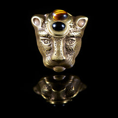 Patrice Tiger Eye Panther Ring - main