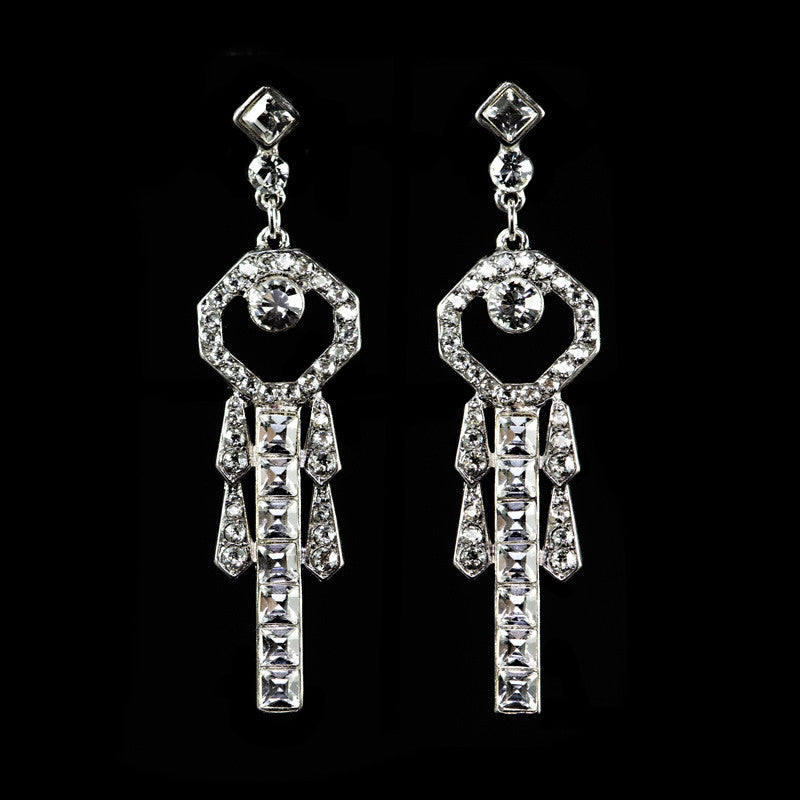 Peter Lang Crystal Art Deco Diamante Earrings EA5695