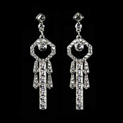 Peter Lang Crystal Art Deco Diamante Earrings - main