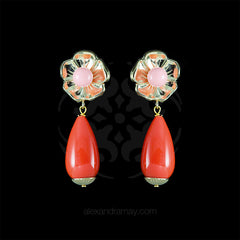 Philippe Ferrandis 'Samarcande' Jasper Drop Clip-on Earrings (SMK105/1) front