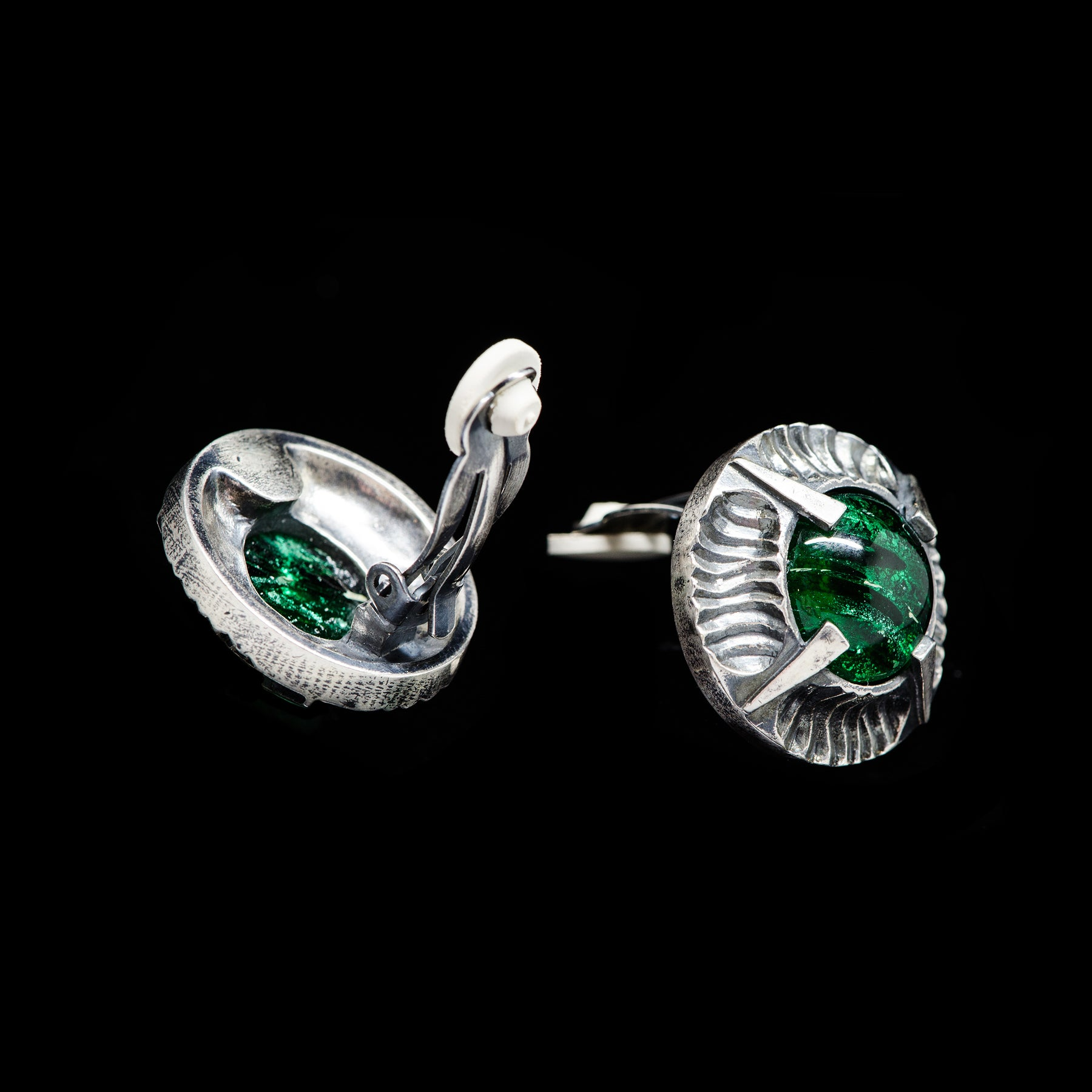Simon Harrison Fabulous Clip-On Emerald Angevin Earrings (SHJ081-E)