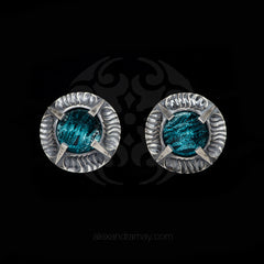 Simon Harrison Fabulous Clip-On Aquamarine Angevin Earrings (SHJ081-B) Front