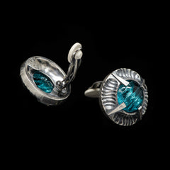 Simon Harrison Fabulous Clip-On Aquamarine Angevin Earrings (SHJ081-B) Detail