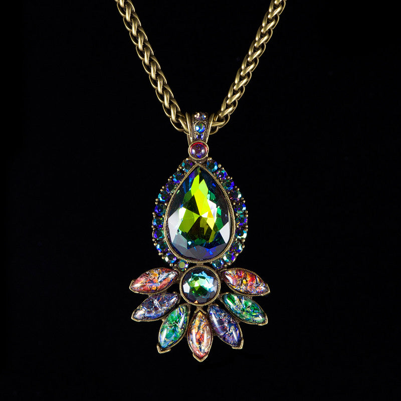 Sweet Romance Peacock Paisly Pendant Necklace (N3156)