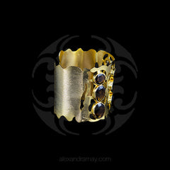 Trousseau Fretwork Smoky Quartz Cuff Bracelets (TSUCUFF1) side