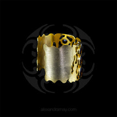 Trousseau Fretwork Smoky Quartz Cuff Bracelets (TSUCUFF1) side2