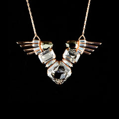 Cabinet Rose Gold 'Ceolocanth' Crystal Necklace (C115RG)