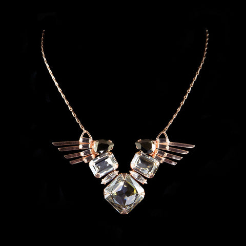 Cabinet Rose Gold 'Ceolocanth' Crystal Necklace (C115RG) 2