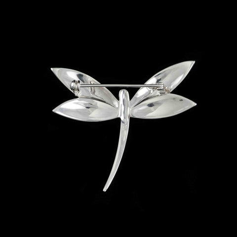 Luke Stockley Silver Marcasite Art Deco Dragonfly Brooch (M3549)