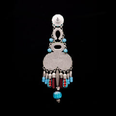Ayala Bar 'Hip' Coral Cave Dusky Blue Large Earrings (AB7513)