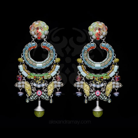 Ayala Bar 'Classic' Willow Faded Pastel Statement Earrings (AB1331)