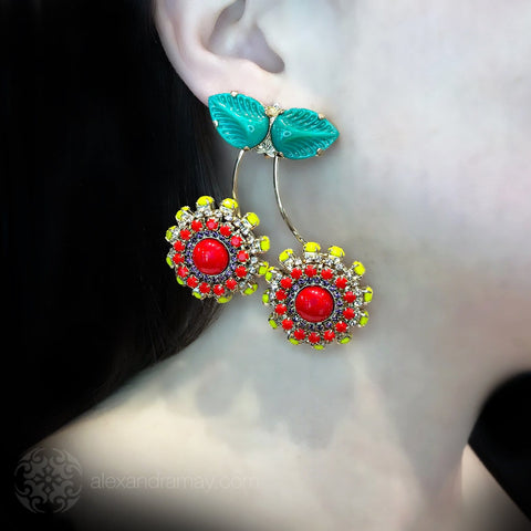 Anton Heunis 'Pandora's box' Statement Cherry Earrings (PNR322)