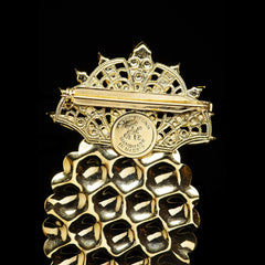 Anton Heunis 'Pandora's box' Statement Pineapple Brooch (PNR401)