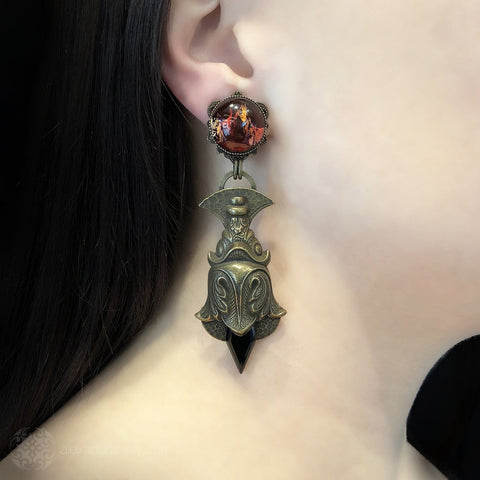 Jean-Louis Blin Gothic Baroque Rococo Clip-on Earrings (JLB6526)