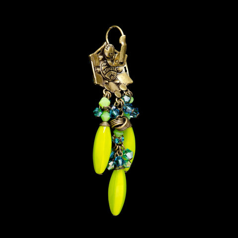 Konplott 'Arabic Nights' Lime Green Hook Earrings (499277)