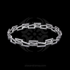 Cavendish French Sterling Silver Abstract Fence Bangle (CF2776)