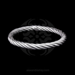 Cavendish French Sterling Silver Rope Bangle (CF2631)
