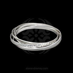 Cavendish French Sterling Silver Russian Bangle (CF2563)