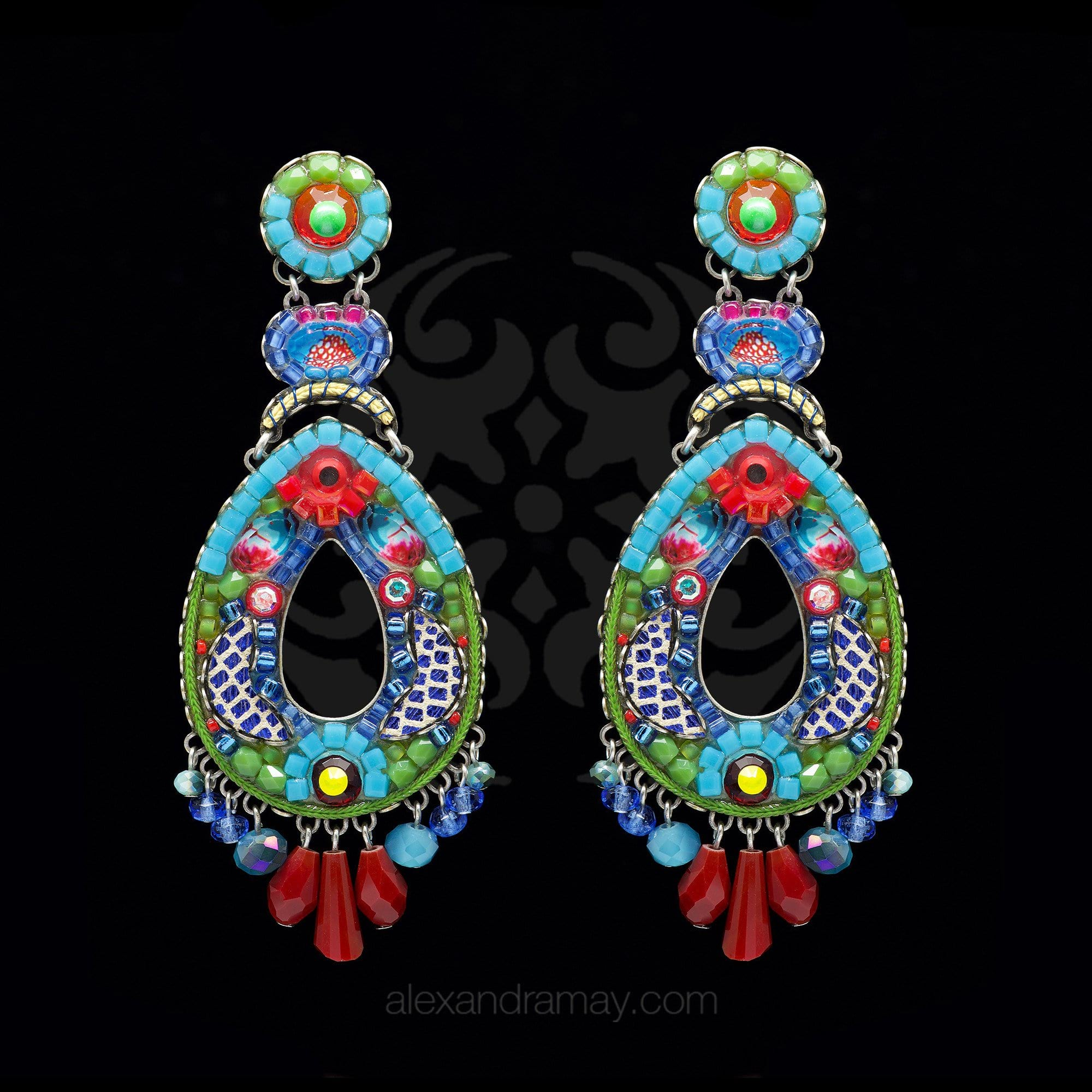 Ayala Bar 'Classic' Large Tropical Kahlo Earrings (AB1285)