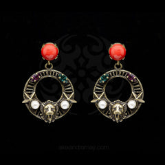 Anton Heunis 'Gypsy Queen' Bronze Lion Earrings (GPQ3.09)