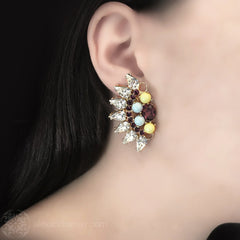 Anton Heunis 'Turkish Delight' Crystal Fan Earrings (TRC3.17)