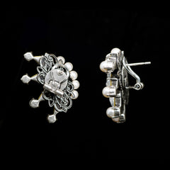 Anton Heunis 'Metropolis' Pearl & Crystal Open Eye Earrings (MPT3-06)