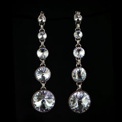 Konplott Classic Long Graduated Crystal Earrings (558242)