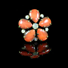 Konplott 'Love me Tender' Orange Flower Ring (891219) Front