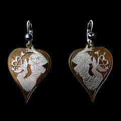 Konplott 'My Bonnie is Over the Ocean' Mermaid Heart Earrings (835077) Front