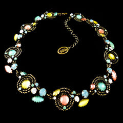 Konplott 'Twisted Lady' Multi-Coloured Opaline Necklace (836074) Full