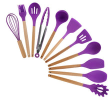 Cargar imagen en el visor de la galería, 9/11Pcs Cooking Tools Set Kitchen Utensils Set Kitchenware Silicone Non-stick Spatula Spoon Cooking Tool Utensilios De Cocina