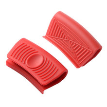 Cargar imagen en el visor de la galería, Anti-Hot Gloves Kitchen Accessories Multi-Color Kitchen Silicone Insulated Oven Gloves Casserole Ear Pot Holder Handle Cocina
