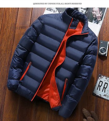 Cool Men Casual Solid color Tops Down jacket 2020