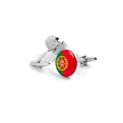 Novelty Cufflinks - Round flag Of Portugal - Cuffz