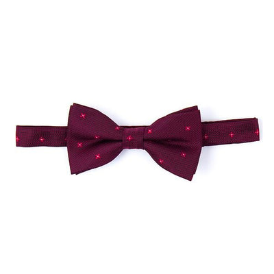 Camelot red Bow Tie with floral and micro motif - Cuffz