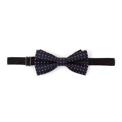 Oxford Navy Blue Bow Tie with micro motif - Cuffz