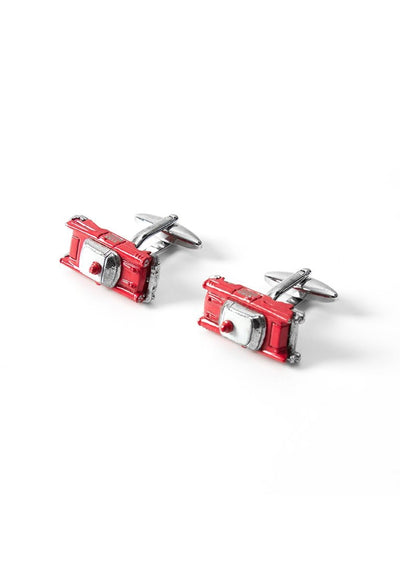 Novelty Cufflinks - Red Fire Department Vehicle - Cuffz