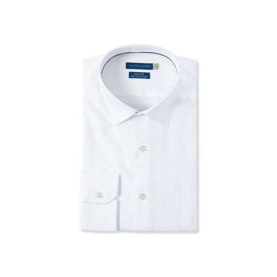 Slim Fit Micro Herringbone Dress Shirt In Egyptian Giza Cotton - Cuffz
