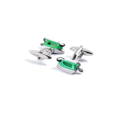 Novelty Cufflinks - Green Iron - Cuffz