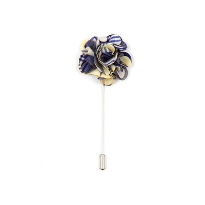 Multi-coloured flower lapel pin - Cuffz